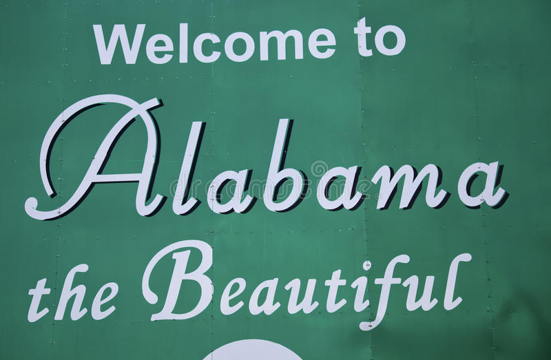 Onthaal aan Alabama stock afbeeldingen