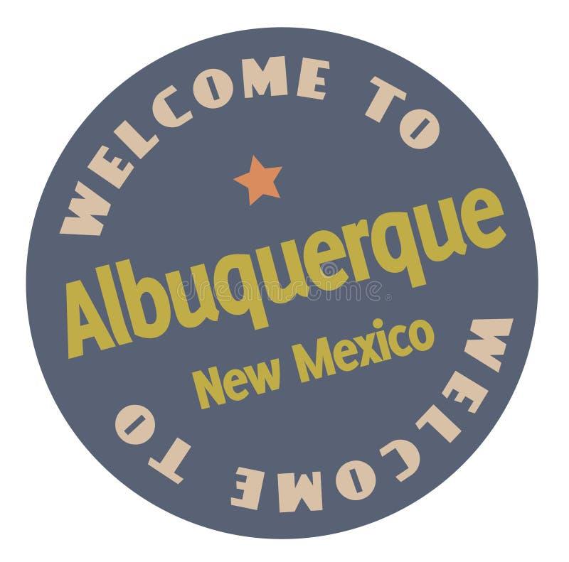 Onthaal aan Albuquerque New Mexico royalty-vrije illustratie