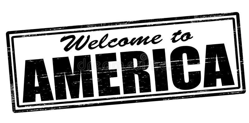 Onthaal aan Amerika stock illustratie