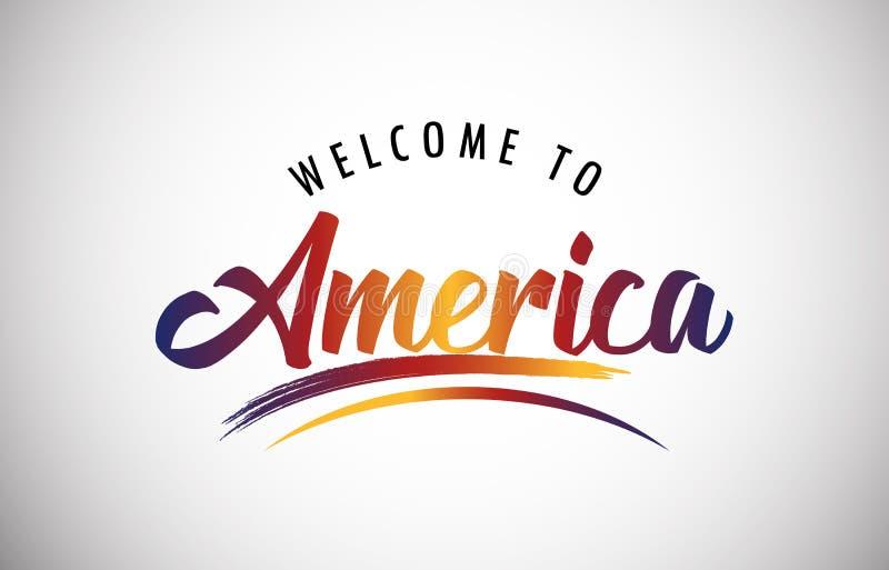 Onthaal aan Amerika vector illustratie