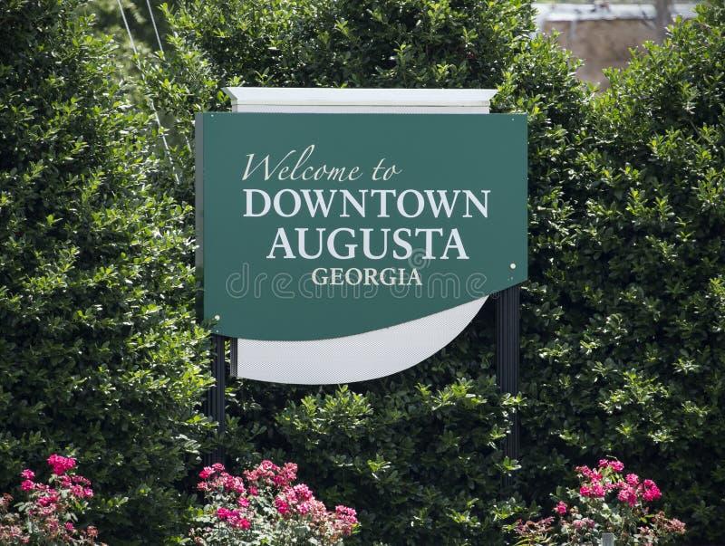 Onthaal aan Augusta stock foto