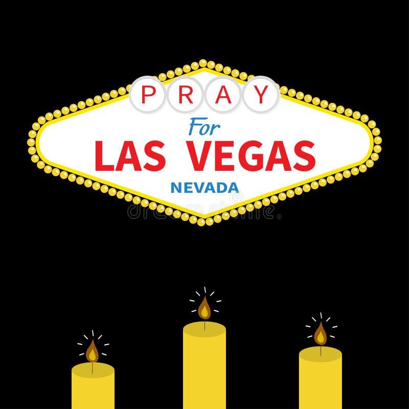 Onthaal aan de reeks van de het tekenkaars van Las Vegas vector illustratie