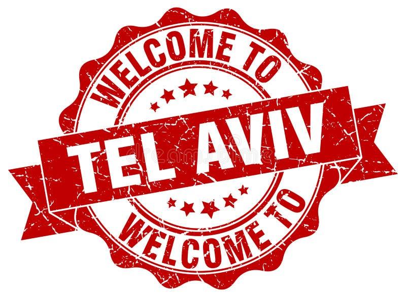 Onthaal aan de verbinding van Tel Aviv stock illustratie