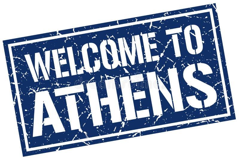 Onthaal aan de zegel van Athene vector illustratie