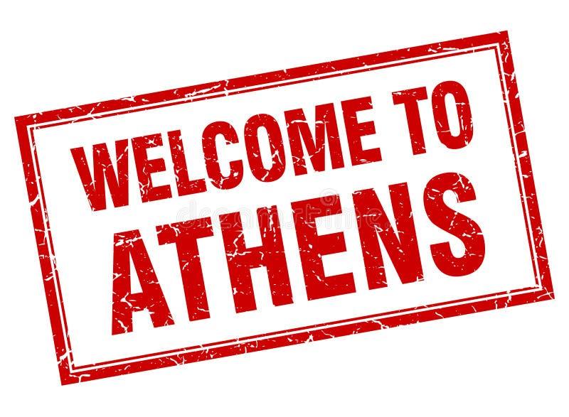 Onthaal aan de zegel van Athene royalty-vrije illustratie