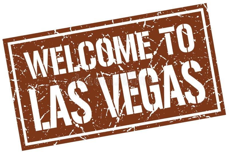 onthaal aan de zegel van Las Vegas stock illustratie