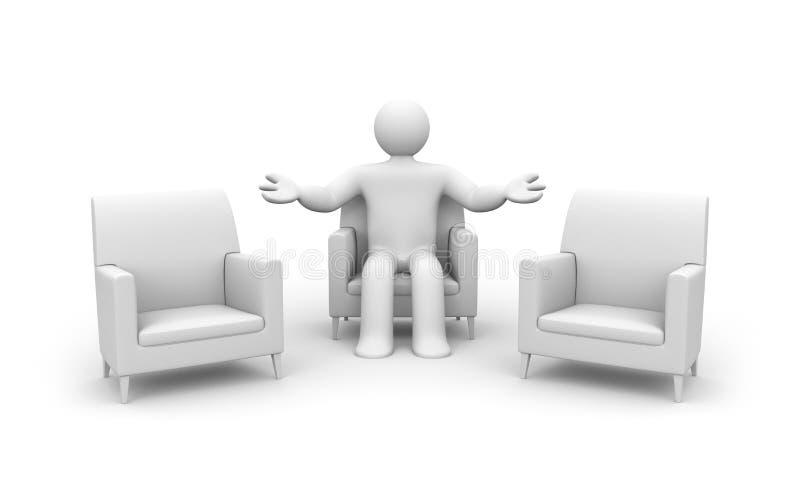 Onthaal aan dialoog royalty-vrije illustratie