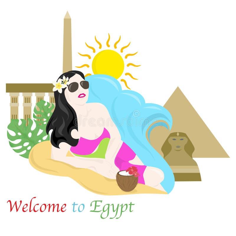 Onthaal aan Egypte vector illustratie