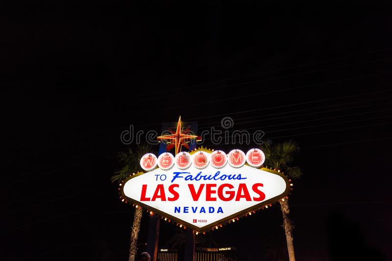 Onthaal aan Fabelachtig het neonteken van Las Vegas Nevada stock fotografie