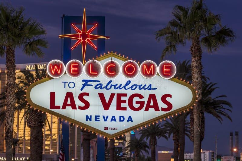 Onthaal aan Fabelachtige Las Vegas Nevada stock foto's