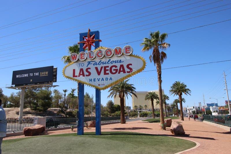 Onthaal aan Fabelachtige Las Vegas Nevada stock fotografie