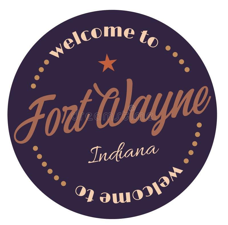 Onthaal aan Fort Wayne Indiana royalty-vrije illustratie