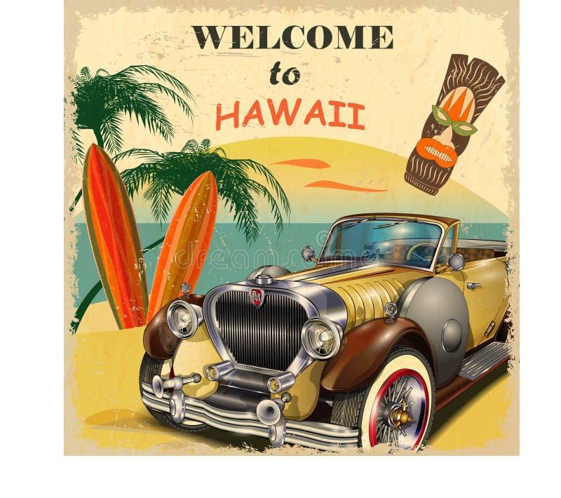 Onthaal aan Hawaï royalty-vrije illustratie