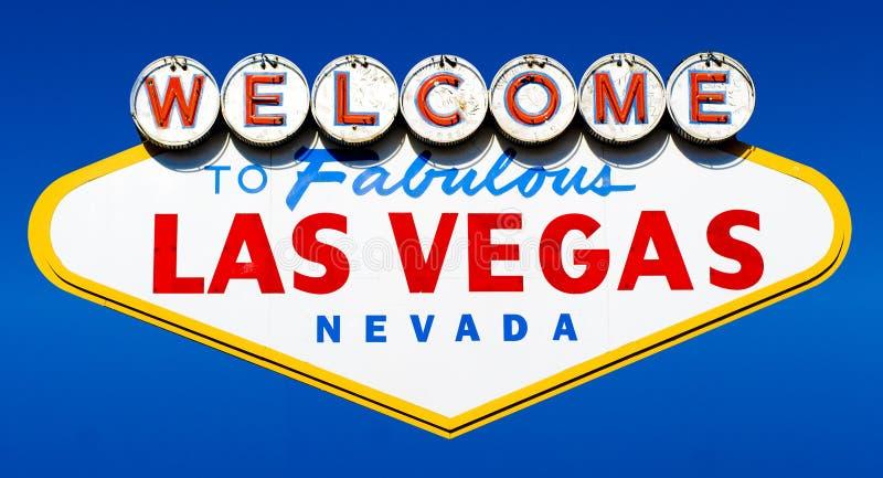 Onthaal aan het Fabelachtige Teken van Las Vegas stock afbeelding