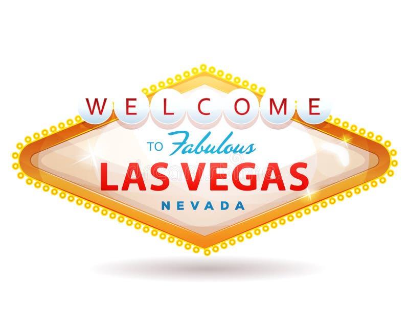 Onthaal aan het Fabelachtige Teken van Las Vegas stock illustratie