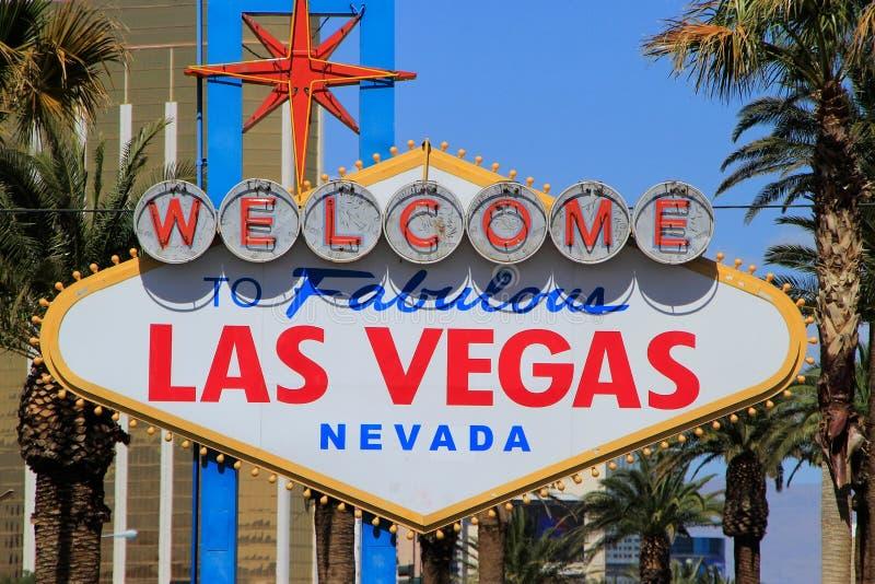 Onthaal aan het Fabelachtige teken van Las Vegas, Nevada stock afbeelding