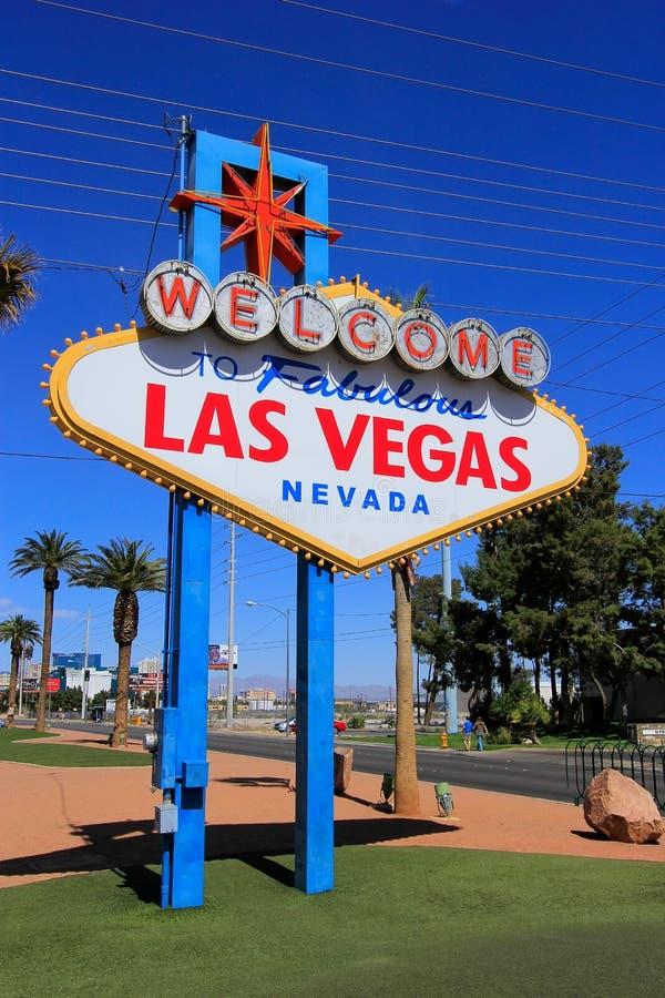 Onthaal aan het Fabelachtige teken van Las Vegas, Nevada stock foto's
