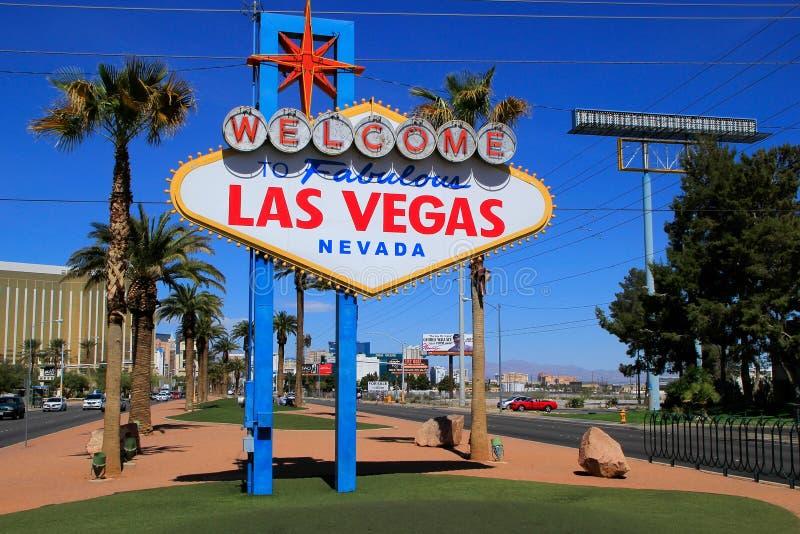 Onthaal aan het Fabelachtige teken van Las Vegas, Nevada royalty-vrije stock afbeeldingen