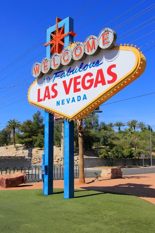 Onthaal aan het Fabelachtige teken van Las Vegas, Nevada stock foto