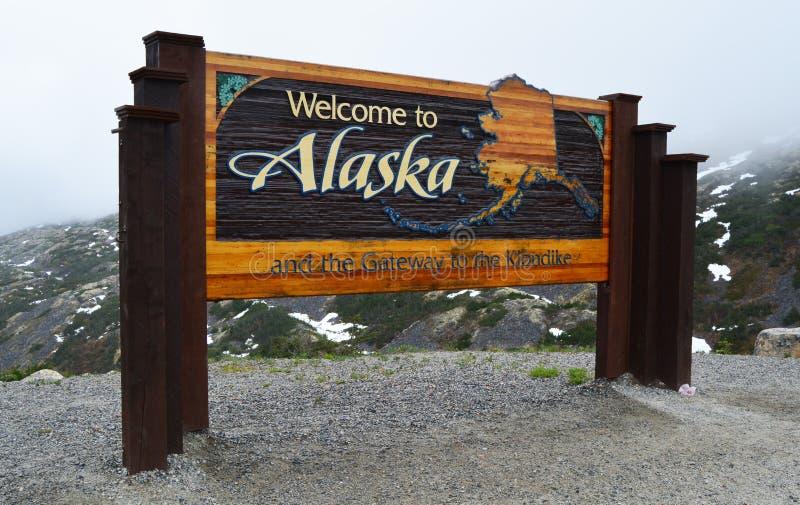 Onthaal aan het Teken van Alaska stock fotografie
