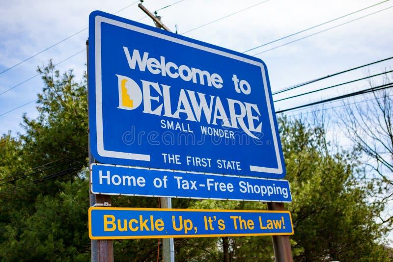 Onthaal aan het Teken van Delaware First State stock afbeeldingen