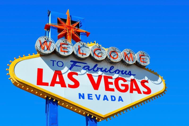 Onthaal aan het Teken van Las Vegas stock foto
