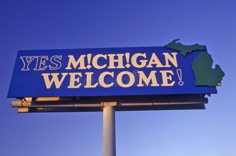 Onthaal aan het Teken van Michigan royalty-vrije stock afbeeldingen