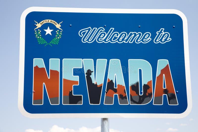 Onthaal aan het Teken van Nevada stock fotografie