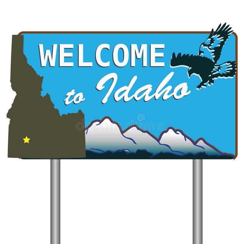 Onthaal aan Idaho royalty-vrije illustratie