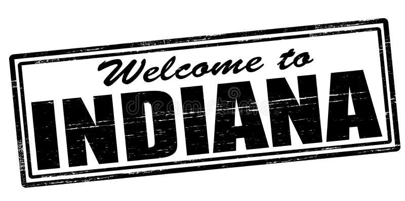 Onthaal aan Indiana stock illustratie