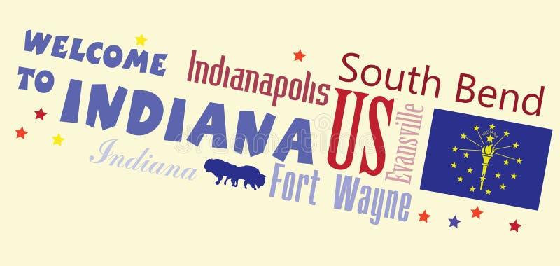Onthaal aan Indiana Abstract-banner royalty-vrije illustratie