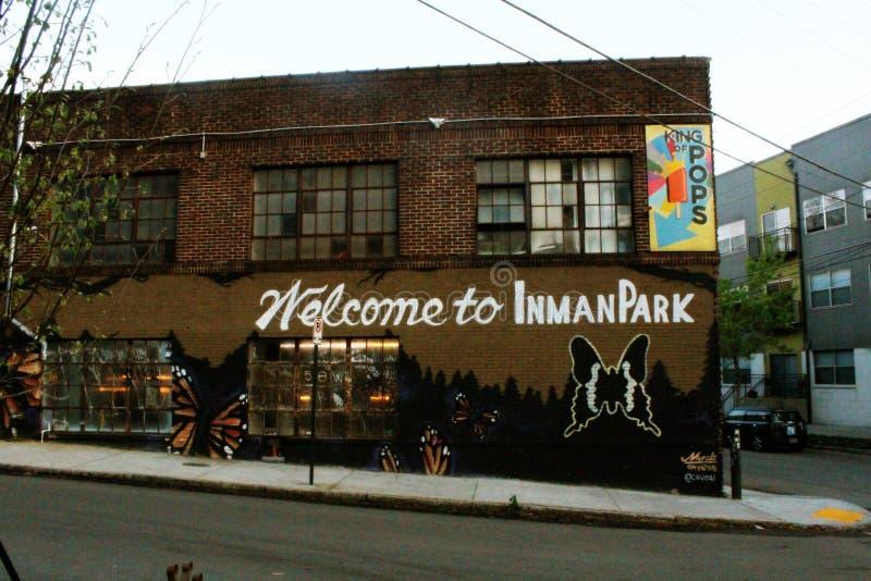 Onthaal aan Inman-Park royalty-vrije stock foto's