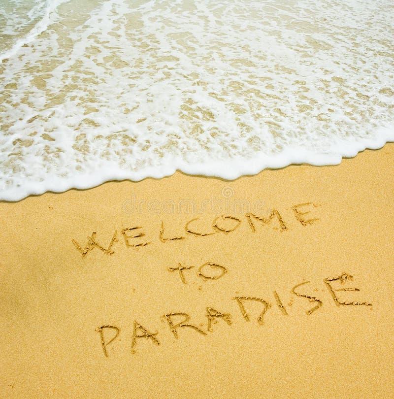 Onthaal aan paradijs stock afbeeldingen