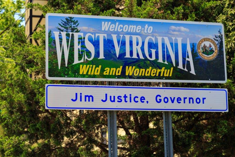 Onthaal aan Teken het West- van Virginia stock fotografie