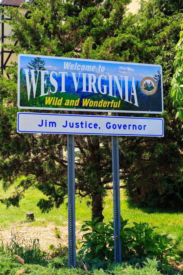 Onthaal aan Teken het West- van Virginia stock foto's
