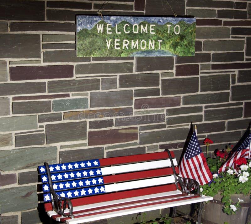 Onthaal aan Vermont royalty-vrije stock afbeeldingen
