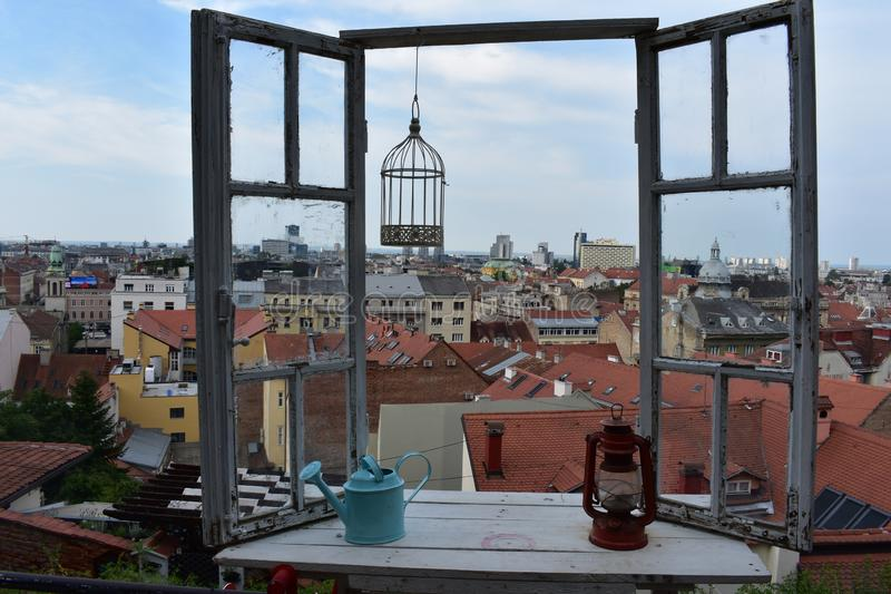 Onthaal aan Zagreb stock fotografie