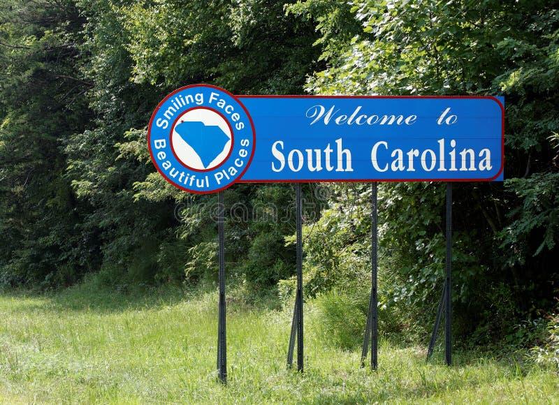 Onthaal aan Zuid-Carolina stock afbeeldingen