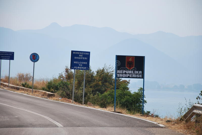 Onthaal in Albanië royalty-vrije stock fotografie