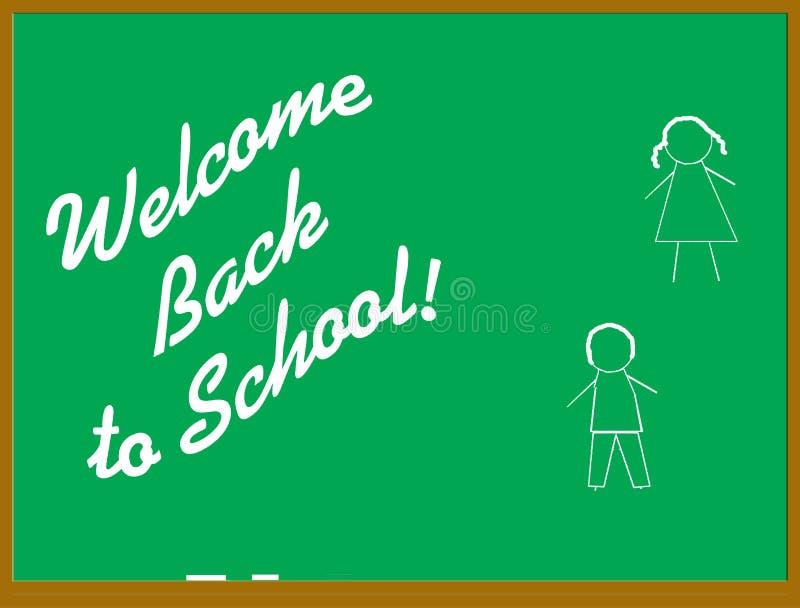 Onthaal terug naar school vector illustratie