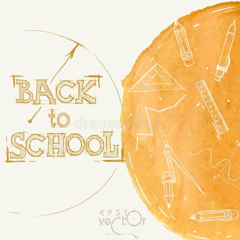Onthaal terug naar school stock illustratie