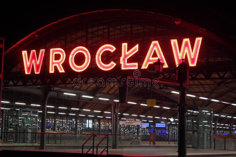 Onthaal in Wroclaw royalty-vrije stock afbeelding