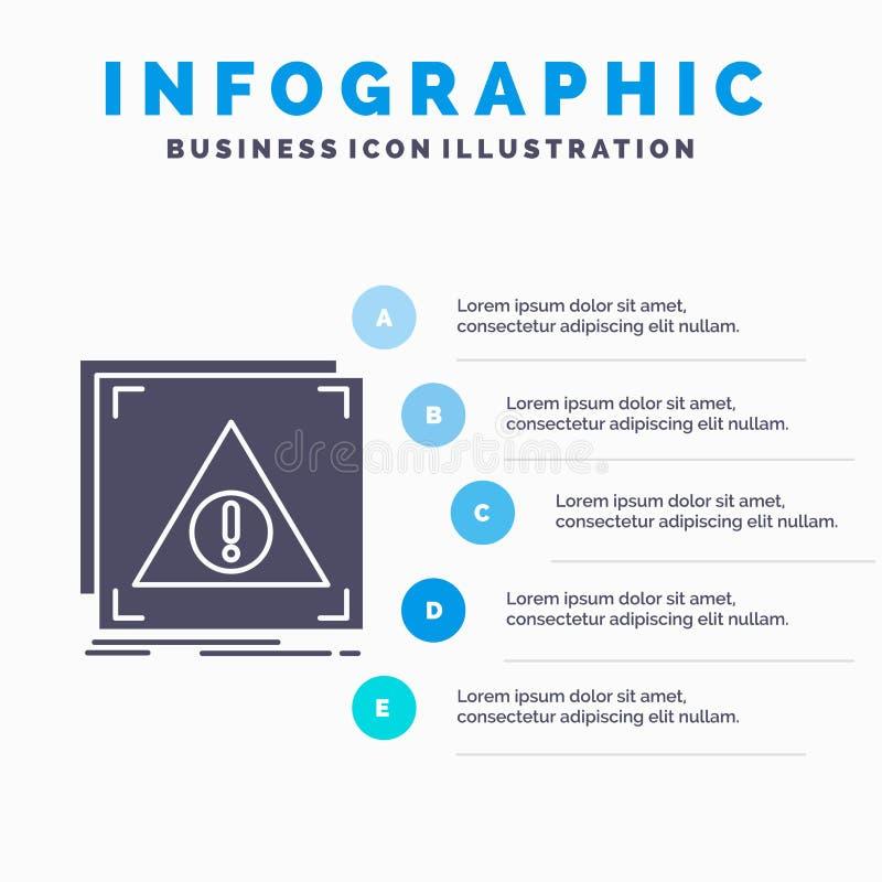 Ontkende fout, Toepassing, server, waakzaam Infographics-Malplaatje voor Website en Presentatie GLyph Grijs pictogram met Blauw vector illustratie