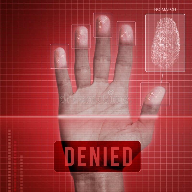 Ontkende vingerafdrukveiligheid - royalty-vrije illustratie