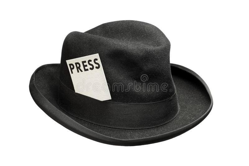 Ontmoet de pers stock fotografie