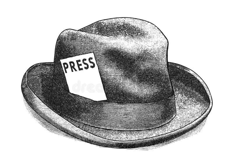 Ontmoet de pers stock illustratie