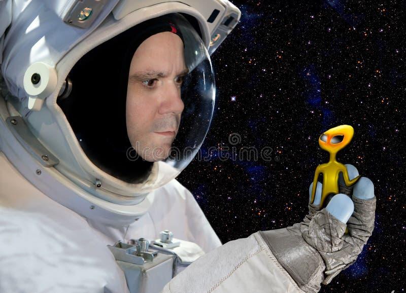Ontmoet met buitenaardse beschavingen stock foto