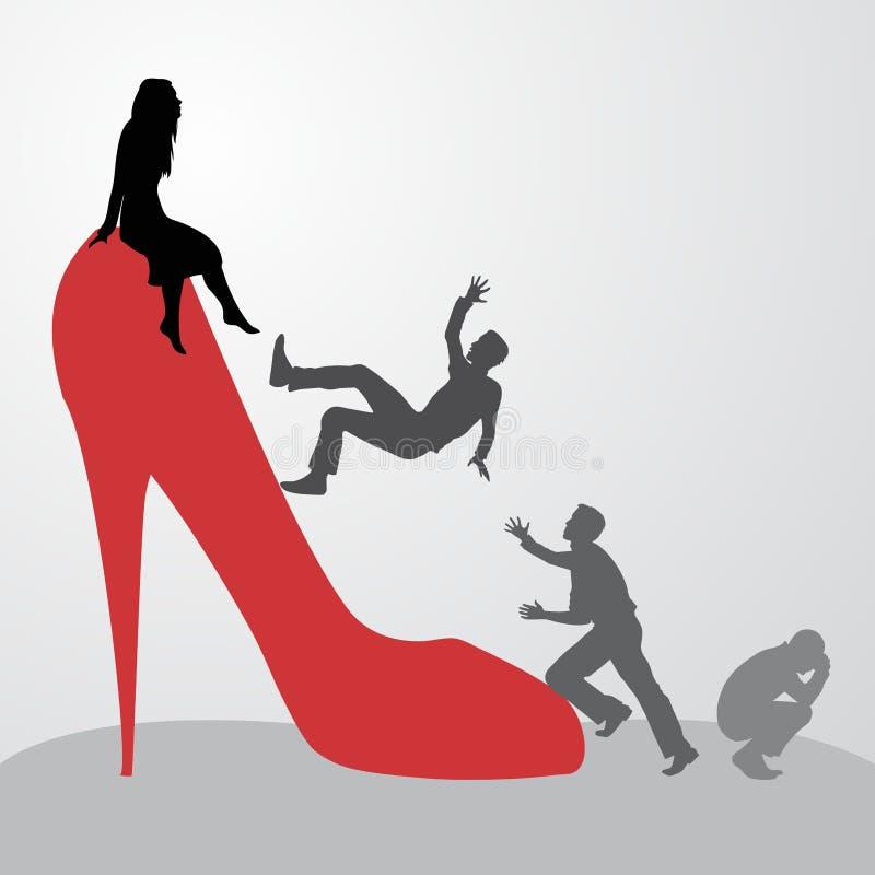 Ontoegankelijke vrouw royalty-vrije illustratie