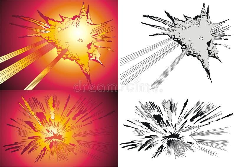 Ontploffing vector illustratie