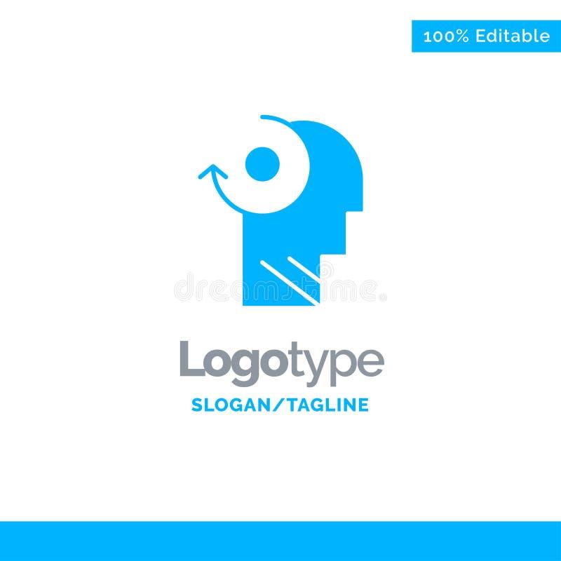 Ontruim, let op, Uw, leid Blauw Stevig Logo Template Plaats voor Tagline vector illustratie